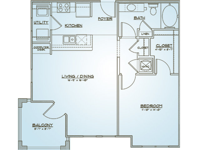 Rutledge | 1 bed 1 bath | from 772 square feet