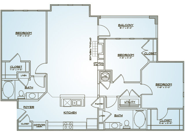 Anson | 3 bed 2 bath | from 1330 square feet