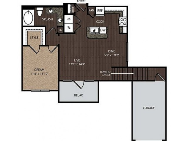 A3a2 | 1 bed 1 bath | from 880 square feet