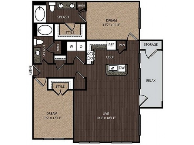 C3 | 2 bed 2 bath | from 1260 square feet