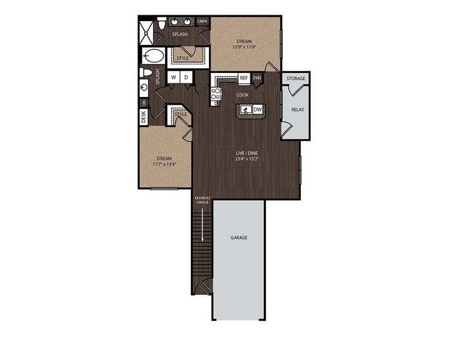 C3a2 | 2 bed 2 bath | from 1340 square feet