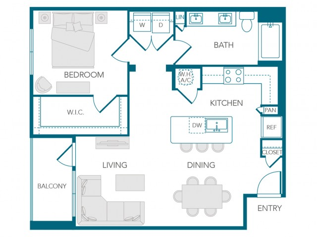 Stone Loch Apartments- A2 Floor Plan