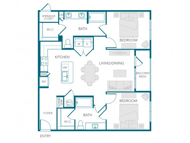 Stone Loch Apartments- B2E Floor Plan