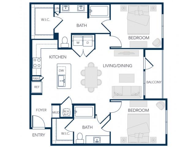 The Rosemary Apartments- B2B Floor Plan