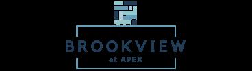 Brookview at Apex logo.