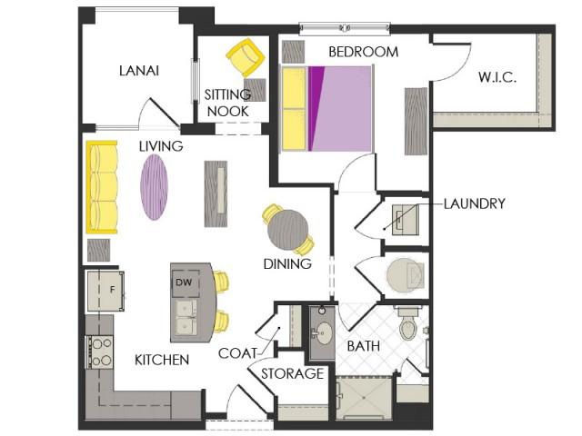 Arcadia Gardens, Palm Beach Gardens FL | Lily Deluxe floorplan