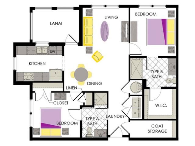 Arcadia Gardens, Palm Beach Gardens FL | Violet floorplan