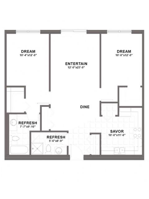 Landing floor plan