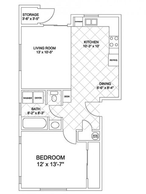 Open 1 Bedroom
