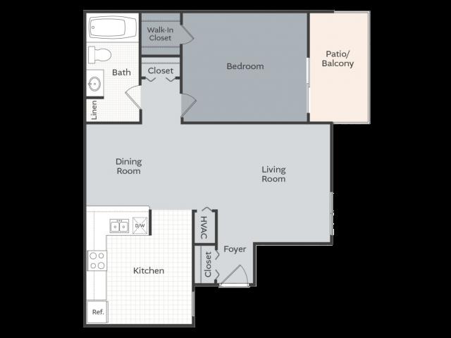 The Garden - 808 square feet