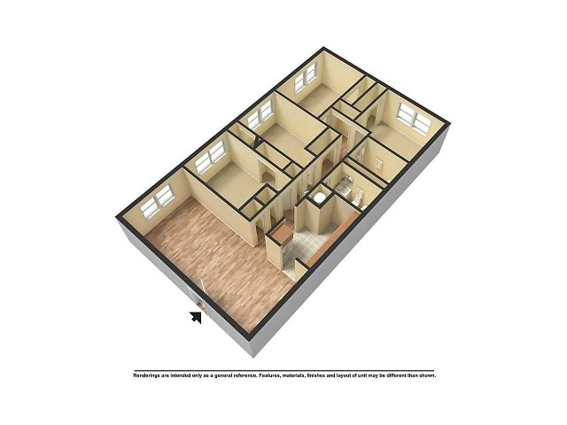 3 Bedroom 2 Bath with Den