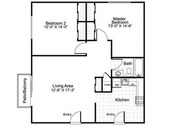 2 Bed and 1 Bath