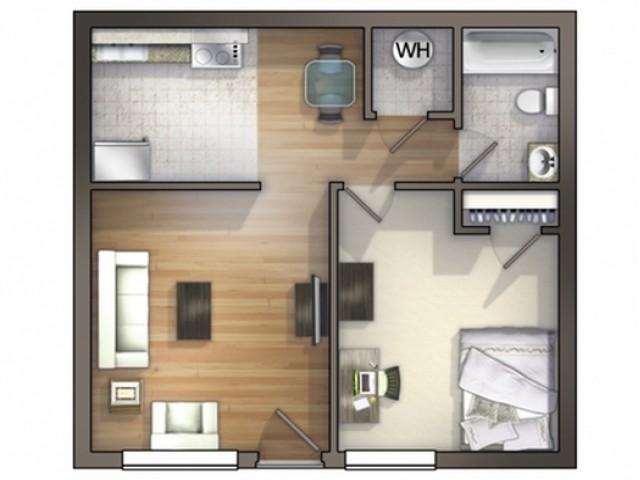 A4D Floor Plan  Floor Plan 4.5   University Apartments Durham   Duke Apartments