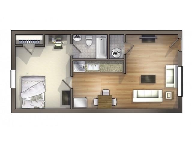 A5 Floor Plan   Floor Plan 5   University Apartments Durham   Duke Apartments