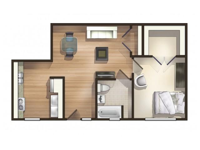 A7 Floor Plan  Floor Plan 7   University Apartments Durham   Apartments In Durham NC