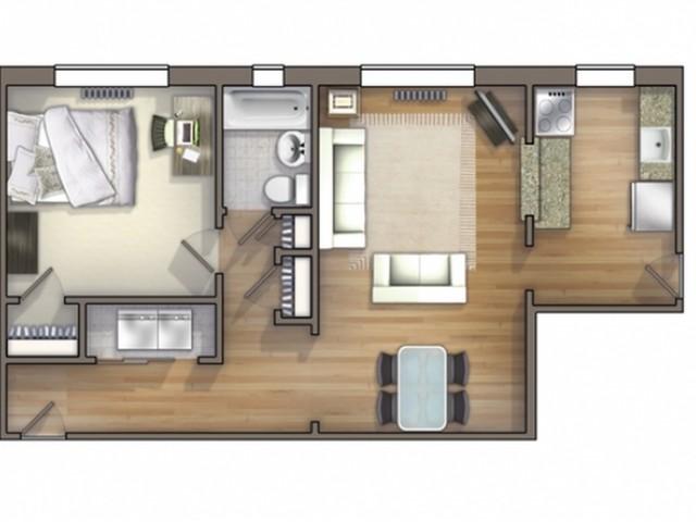 A11 Floor Plan   Floor Plan 11   University Apartments Durham   Apartments Near Duke University