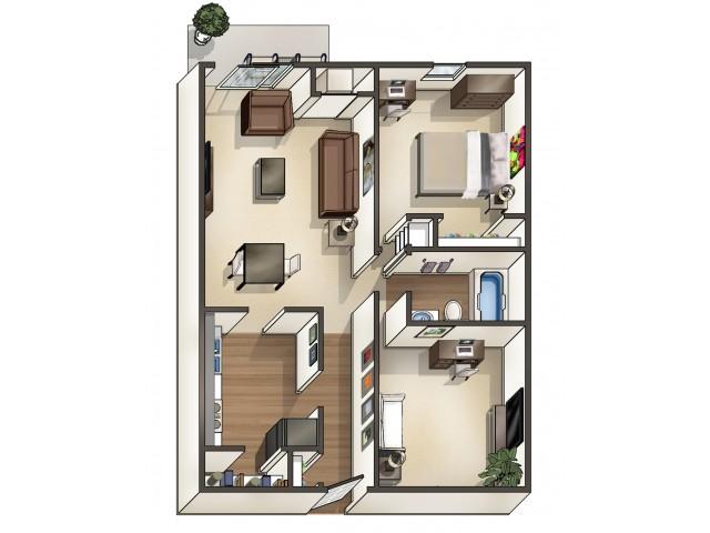 A4 Floor Plan | University Apartments Durham | Apartments Near Duke University