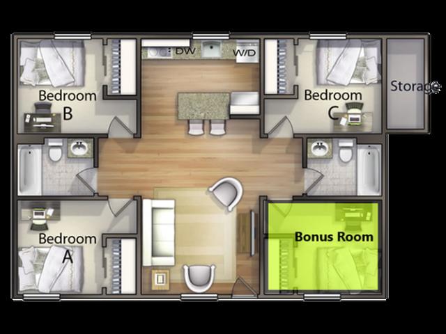 3 Bedroom With Bonus Room