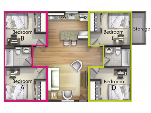 Super 2 Bedroom Option