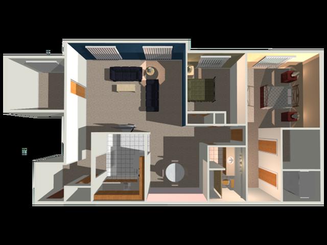 New Yorker floor plan 3D