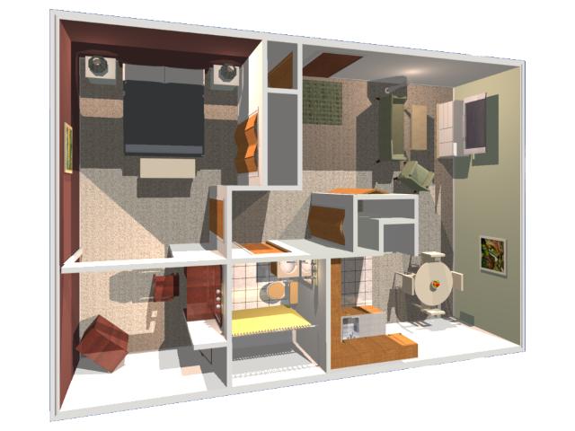Mississippi floor plan 3D
