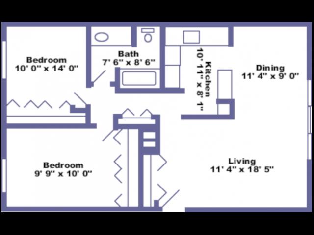 Hanover floor plan 2D
