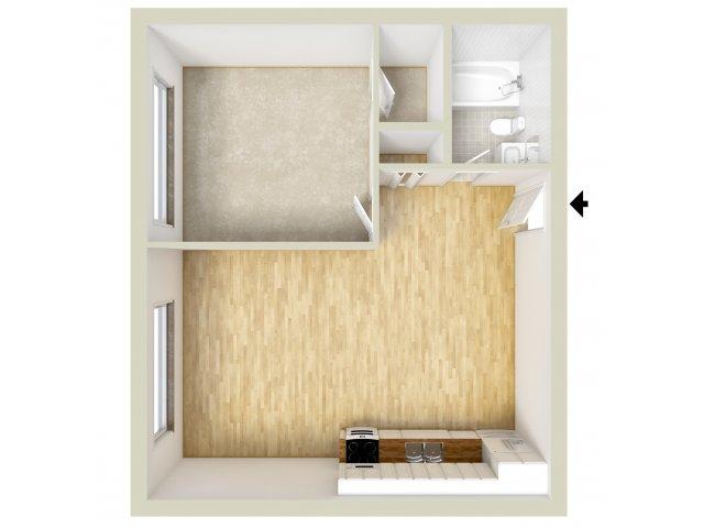 Junior one bedroom floor plan