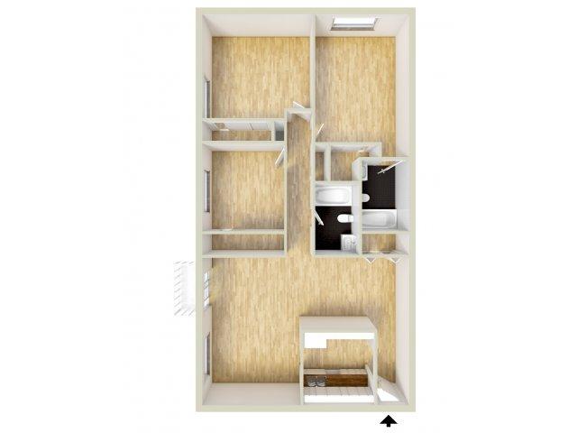Three bedroom floor plan