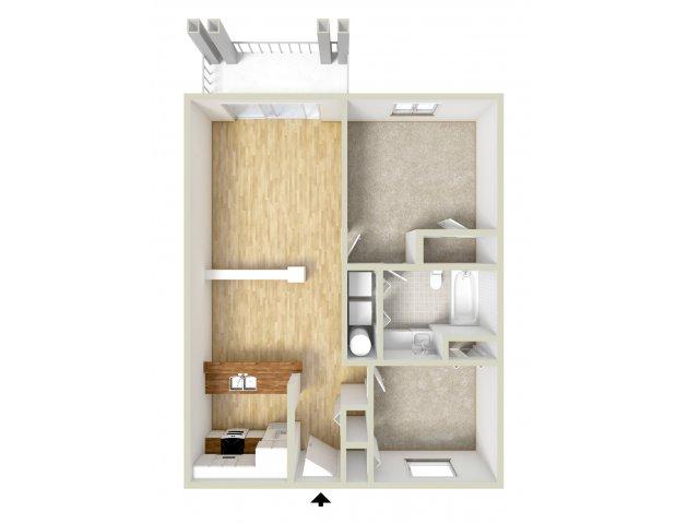 Godfrey - one bedroom with den floor plan