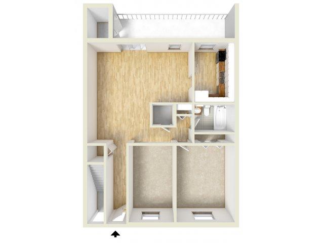 One bedroom with Den