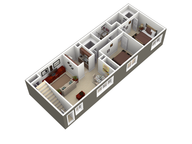 Floor Plan 1   Apartments For Rent In Wyomissing PA   Woodland Plaza