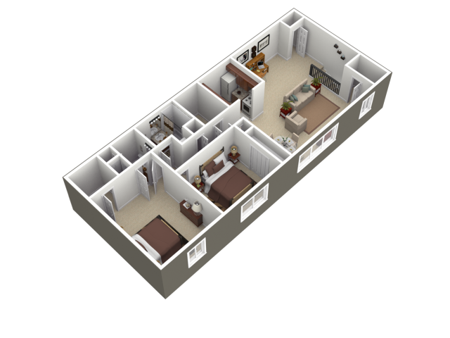 Floor Plan 2   Apartments In Wyomissing PA   Woodland Plaza