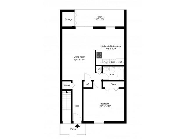 One Bedroom Upstairs