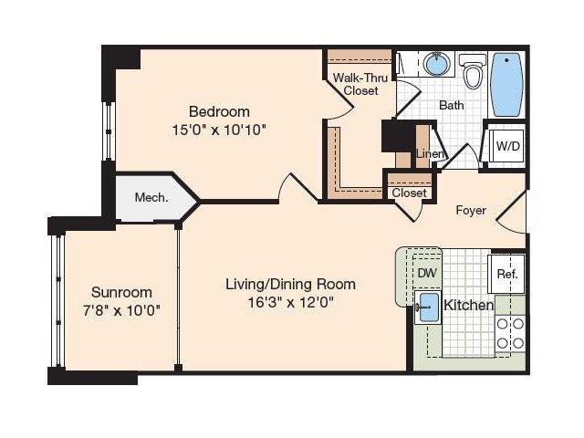 Floor Plan 29 | Old Town Alexandria Apartments | Meridian at Eisenhower Station