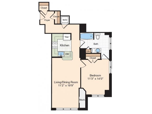 Floor Plan 41 | Old Town Alexandria Apartments | Meridian at Eisenhower Station