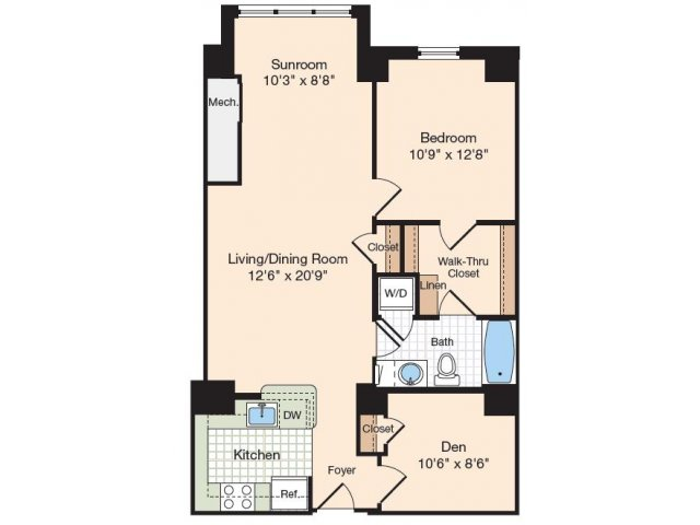 Floor Plan 4 | Luxury Apartments In Alexandria VA | Meridian at Eisenhower Station