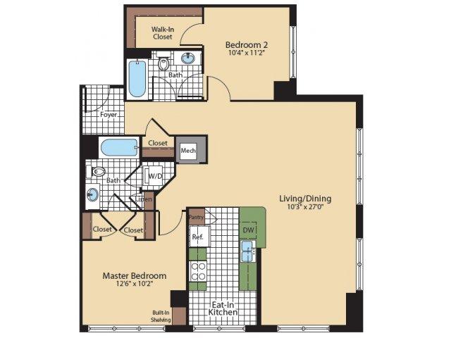 Floor Plan 3 | KW10 | Meridian at Grosvenor Station