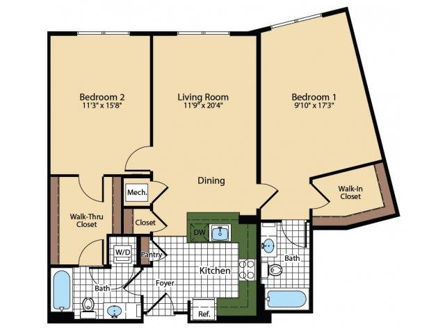 Floor Plan 6 | The Madison at Ballston Station