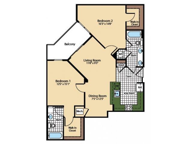 Floor Plan 9 | The Madison at Ballston Station