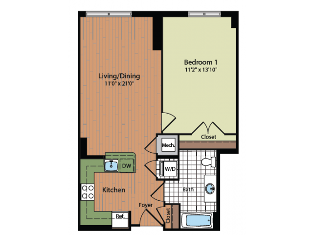 Floor Plan 10 | Meridian at Mt Vernon Triangle