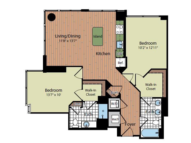 Floor Plan 4 | Parc Meridian at Eisenhower Station 4