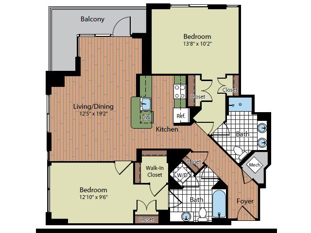 Floor Plan 3 | Parc Meridian at Eisenhower Station 5