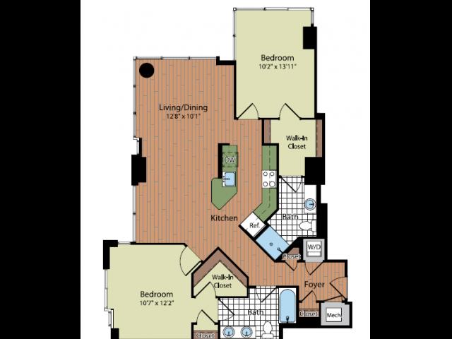 Floor Plan 3 | Parc Meridian at Eisenhower Station 4