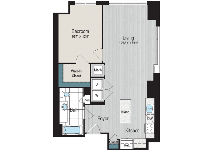 1B1a floorplan