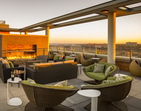 Rooftop Lounge | Parc Meridian at Eisenhower Station | Luxury Apartments Alexandria VA