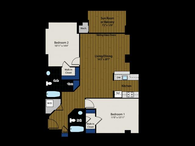 Floor Plan 3 | Meridian at Braddock Station