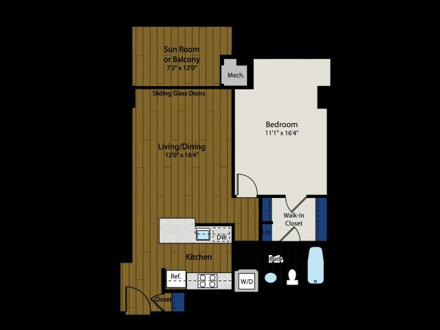Floor Plan 2 | Meridian at Braddock Station