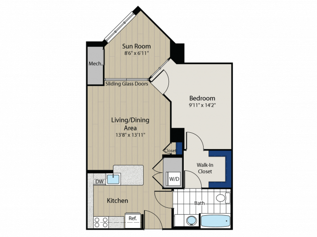Floor Plan 4 | Meridian at Gallery Place 2