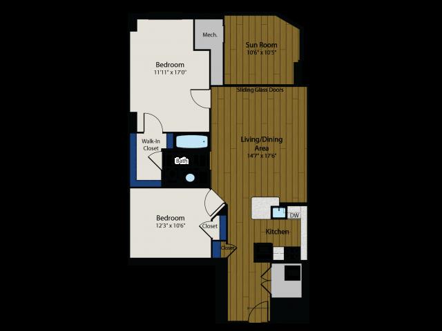 Floor Plan 6 | Meridian at Gallery Place 2
