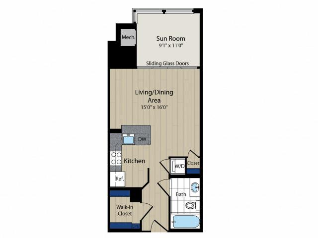 Floor Plan 6   Meridian at Courthouse Commons